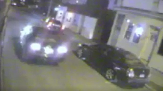 Police are looking for a dark-colored sedan following a hit-and-run that happened earlier this month. (Waterbury police photo)