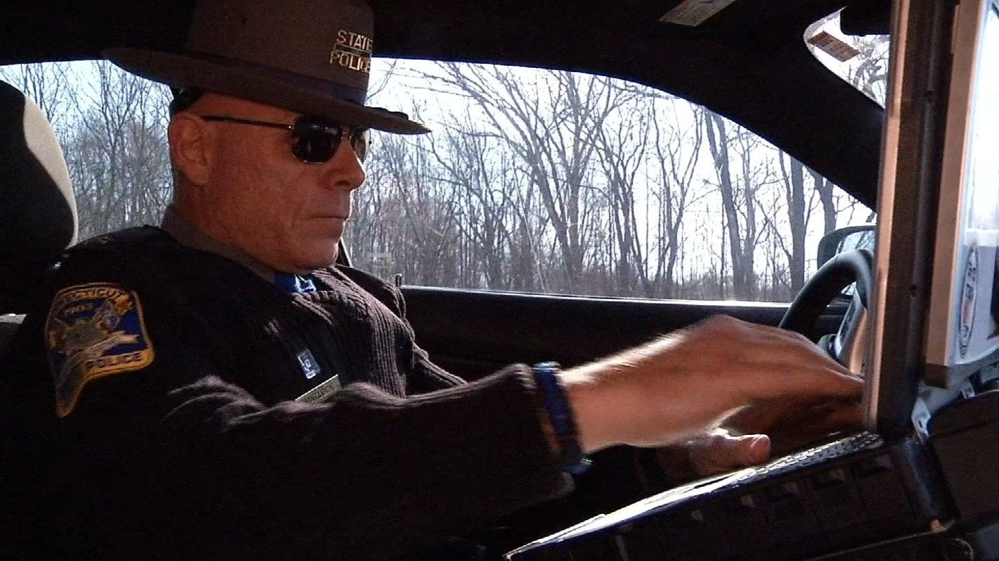 Eyewitness News tagged along with one seasoned road trooper Jim Mattlock on Friday afternoon to check out the road conditions. (WFSB)