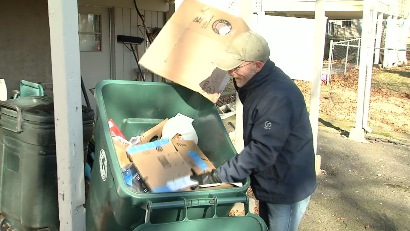 Connecticut State Police issued a warning to Connecticut residents to hide their trash. (WFSB)