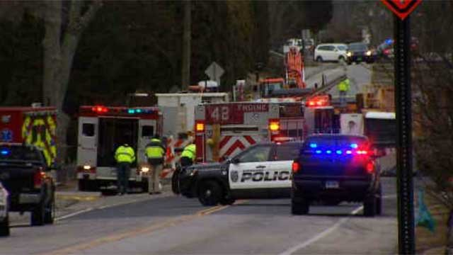 One person was killed in a crash in Waterford on Monday afternoon (WFSB)