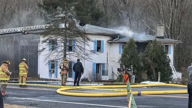 One person died in a house fire in Middlebury on Tuesday afternoon (WFSB)