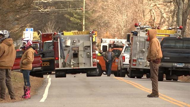A person was killed in a crash in Sterling on Wednesday (WFSB)
