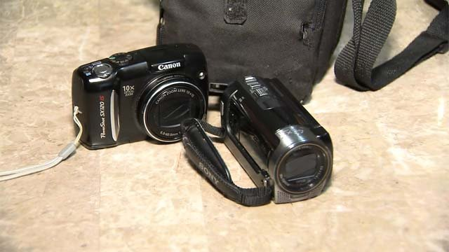 A Good Samaritan who found these two cameras was able to return them to their owners. (WFSB)