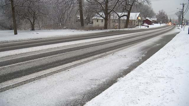Snow blanketed Litchfield County on Thursday (WFSB)