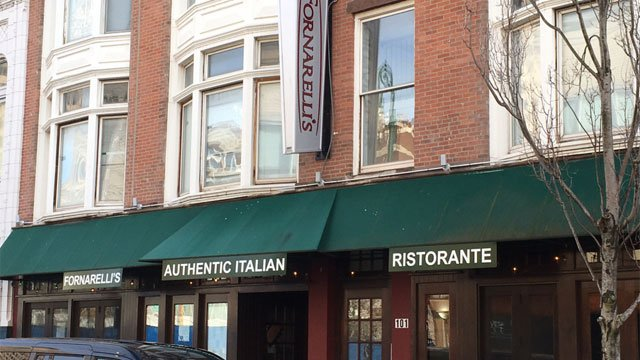 New Haven police investigating a series of smash-and-grab burglaries including at Fornarelli's Ristorante. (WFSB)