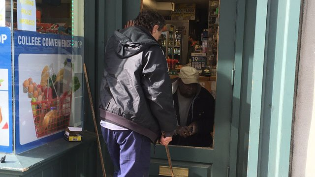 ew Haven police investigating a series of smash-and-grab burglaries including at College Convenience Market. (WFSB)