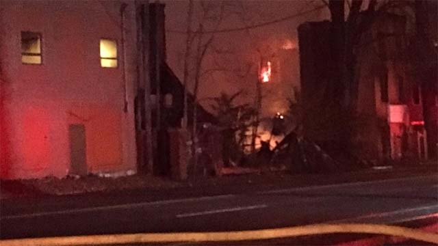 Crews are investigating what caused a fire at a factory in Waterbury. (WFSB)