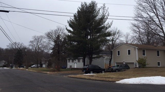 """People living along Manor Road in Southington said they heard and felt a loud """"bang"""" on Monday morning. (WFSB photo)"""