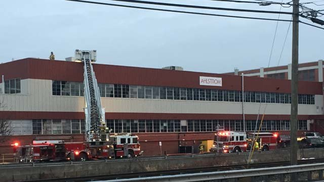 Crews battled a fire at Ahlstrom on Monday afternoon. (WFSB)