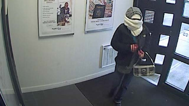 A woman is accused of robbing a bank in Woodbridge on Monday afternoon. (Woodbridge police)