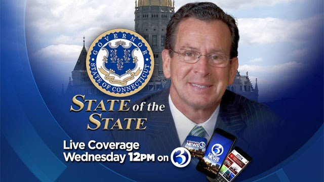 The full State of the State address will be broadcast live on air, the Channel 3 Facebook page and WFSB.com around noon. (WFSB)
