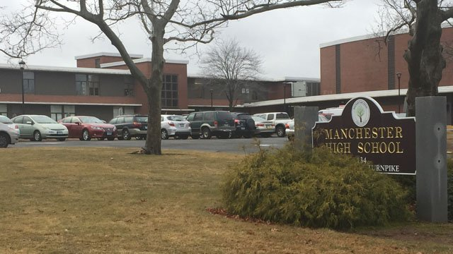 Manchester High School issued an early dismissal for 10:30 a.m. on Wednesday following a 'medical emergency.' (WFSB photo)