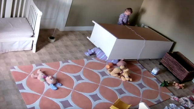 A 2-year-old boy in Utah saves his twin brother who was pinned underneath a dresser. (YouTube)