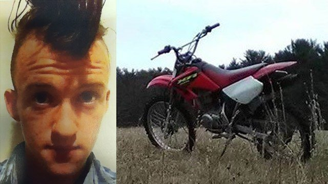 Todd Allen and his dirt bike. (State police photos)