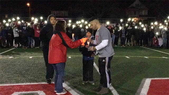 Hundreds of people attended a vigil for Barry Mitchell on Wednesday (WFSB)
