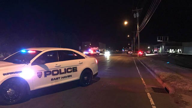 A woman was hit by a car in East Haven on Thursday evening. (WFSB)