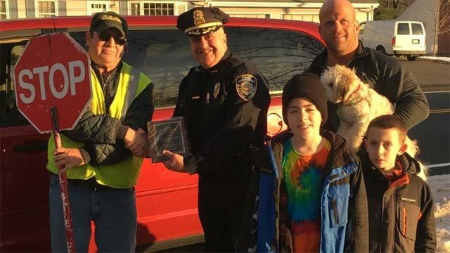 Bob Fabrizio is credited with saving a child from being hit by a car (Plainville Police Dept.)
