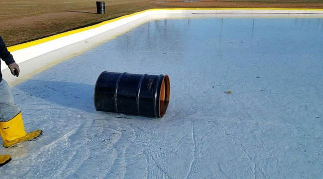 One of the incidents of vandalism at the ice rink (City of Ansonia)