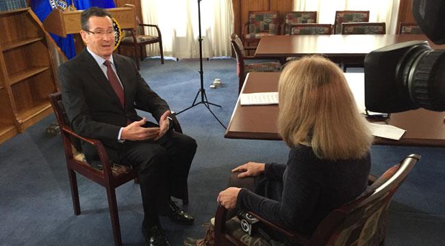 Gov. Dannel Malloy sits down with WFSB reporter Susan Raff. (WFSB)
