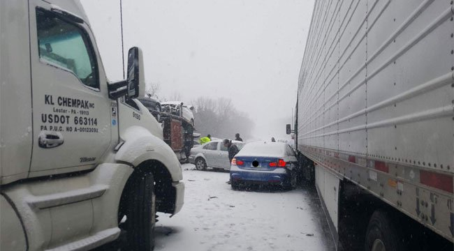 The northbound side of I-91 is now closed between exits 20 and 25, due to multiple crashes. (CT State Police)