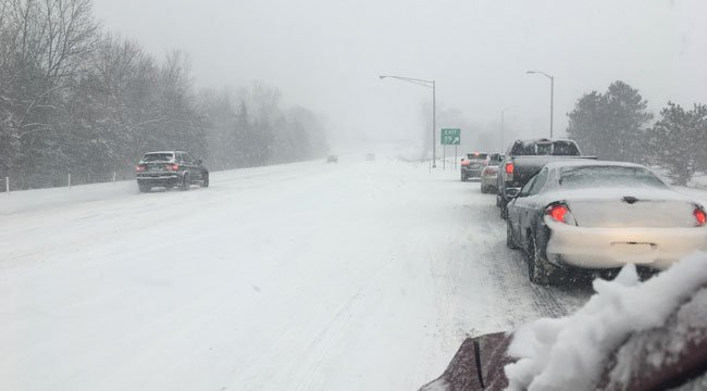 It's a parking lot on Route 9 southbound in Cromwell near exit 19. (WFSB)