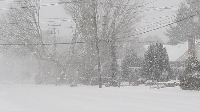 Bill said he had white out conditions in the southern part of New London. (Bill Struzinski)