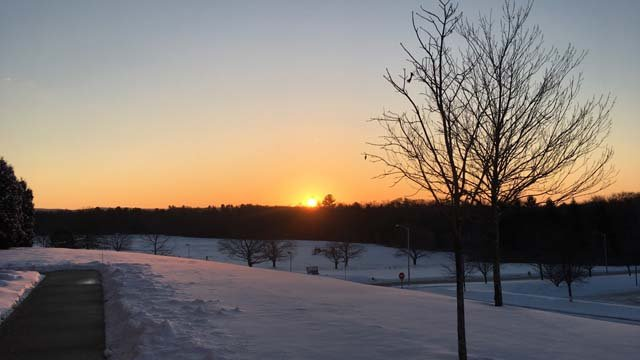 Sunday morning sunrise in Rocky Hill, outside of Channel 3 (WFSB)