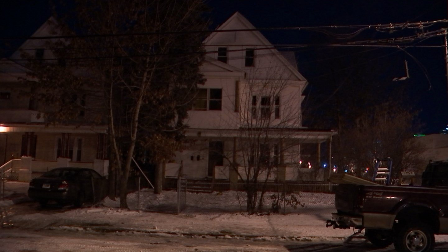 Three people were forced from a home on Magnolia Street in Hartford after a fire on Sunday night. (WFSB photo)