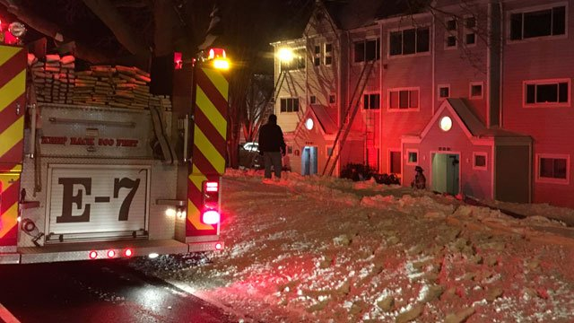 Three-alarm fire sparked in a condo complex in Milford. (WFSB)