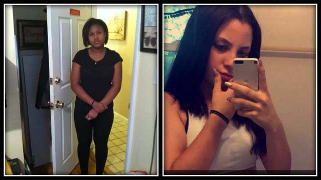 The two girls were last seen on Sunday night (Southington police)