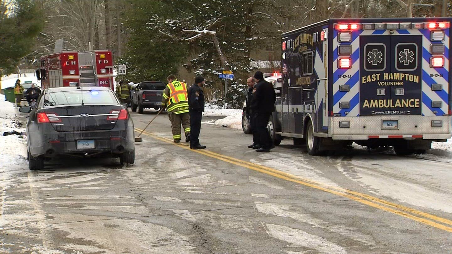 Two people were seriously injured in a crash in East Hampton on Monday morning. (WFSB)