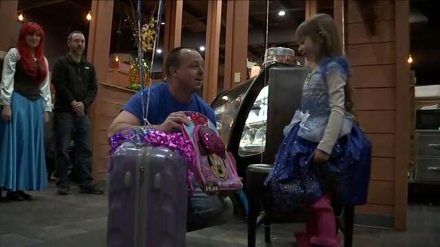 Katalina Wilde's wish was granted on Monday, and she and her family will travel to Disney (WFSB)
