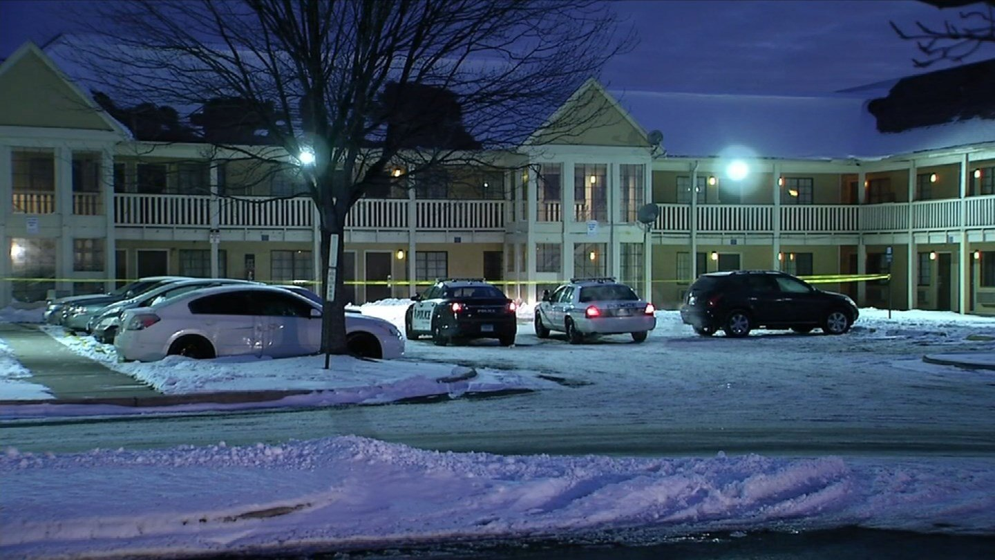 The scene on Weston Street in Hartford where the body of a possible murder suspect was discovered. (WFSB photo)