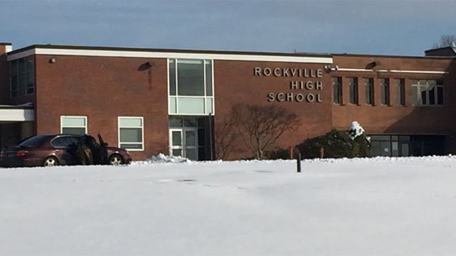 Students were dismissed early from Rockville High School, due to sprinkler malfunction. (WFSB)