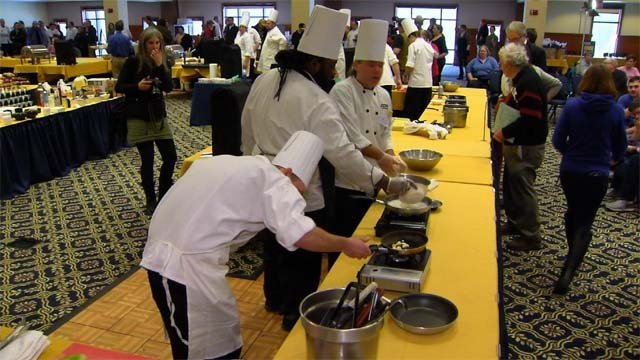 It was a culinary competition at UConn on Tuesday (WFSB)