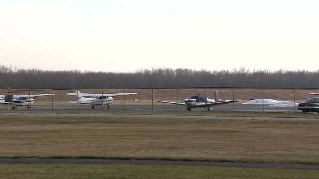 The Connecticut Airport Authority is looking to remove trees around Brainard Airport. (WFSB)