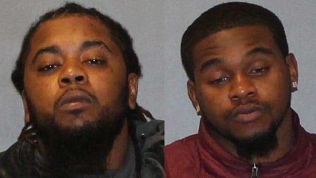 Dashawn Godwin and Chazz Gaither were arrested after a shot was heard near a West Hartford restaurant. (West Hartford police photos)