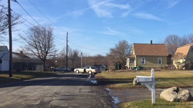 A body was found on the porch of a Watertown home on Friday. (WFSB photo)
