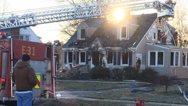 40 firefighters responded to a fire on Nott Road in Wethersfield. (WFSB)
