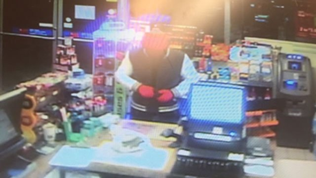 Police released this photo of the North Stonington gas station armed robbery suspect. (CT State Police)