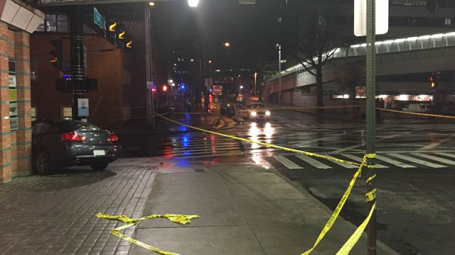 A woman was hit by a car in New Haven on Tuesday afternoon (WFSB)