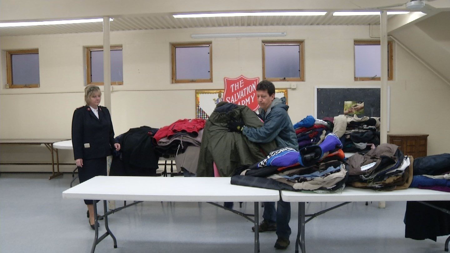 """More than 18,000 coats were collected for Coats for Connecticut"""" this past year. (WFSB)"""