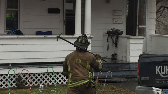 Recently-installed smoke detectors saved lives after a house fire in Torrington on Wednesday. (WFSB)