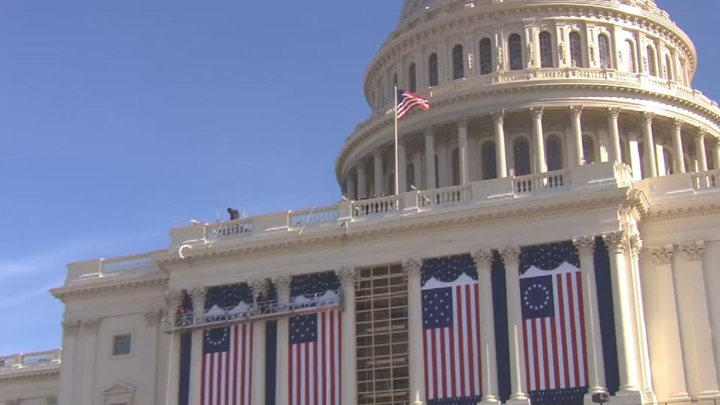 Preperations are underway for Friday's inauguration (WFSB)
