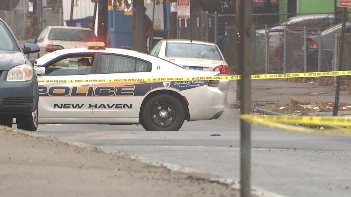 A man was found shot several times near Lamberton Street in New Haven on Saturday. (WFSB photo)