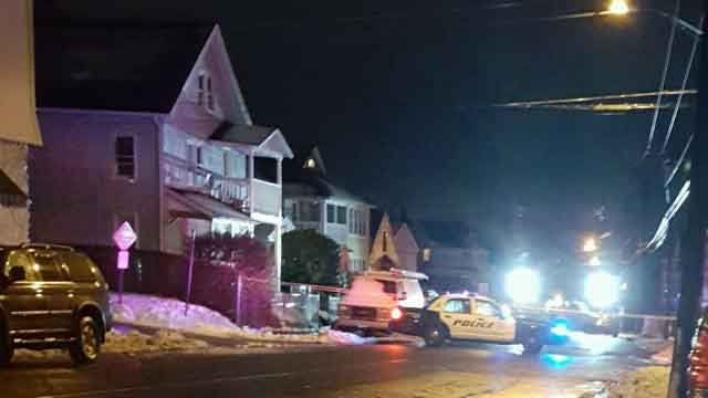 The woman was on Hill Street Tuesday night in Waterbury when she was struck. (iwitness)
