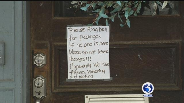 Residents are taking precautions after thieves are striking the area (WFSB)