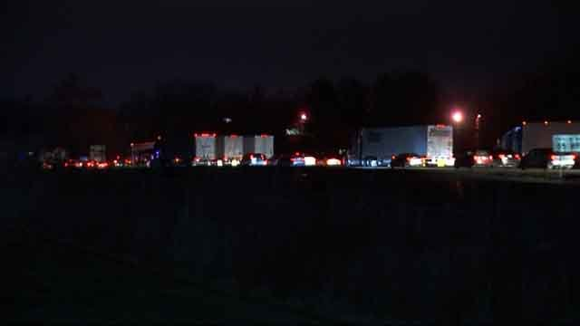 Traffic backed up on I-91 north and south on Wednesday due to the crash (WFSB)