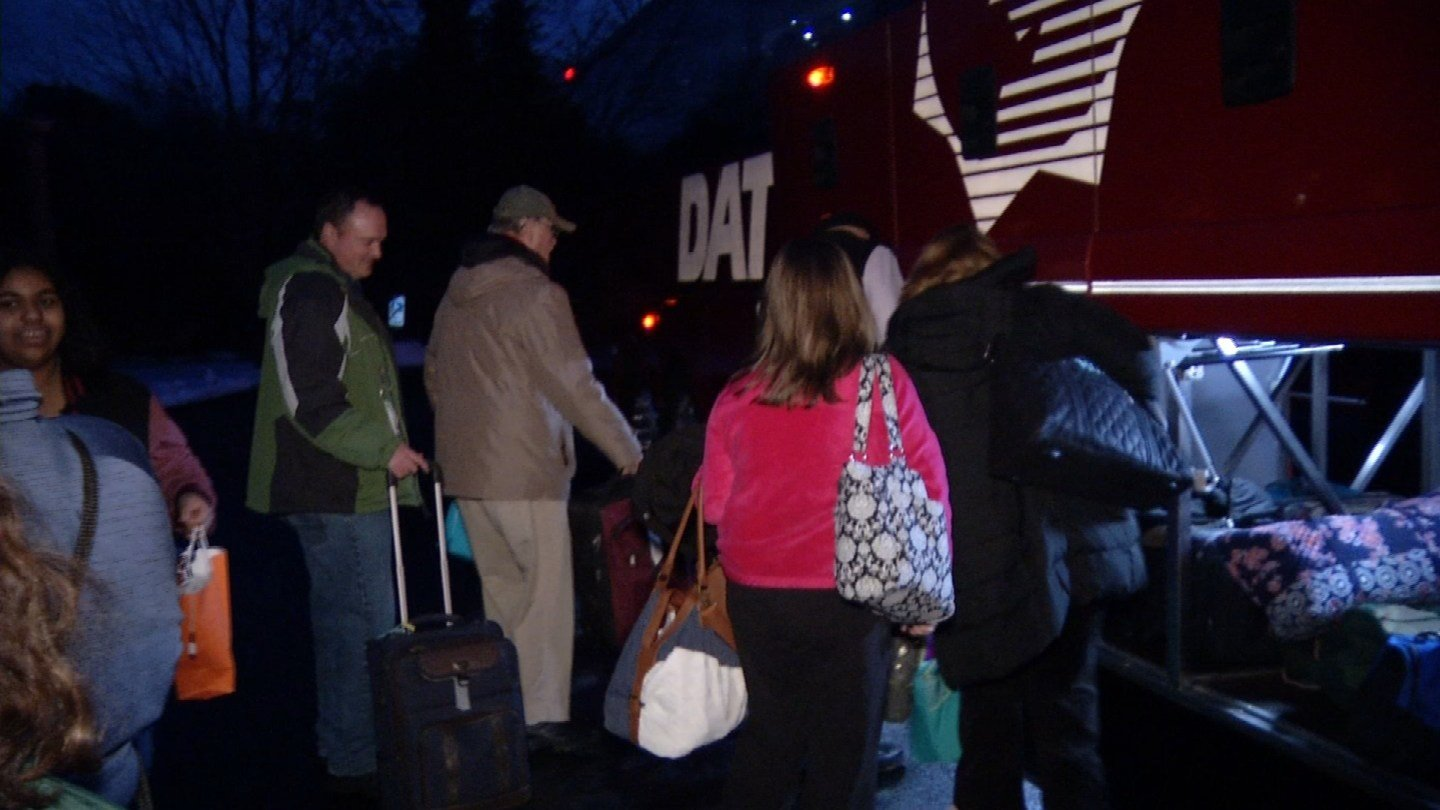 Catholics boarded a bus for a pro-life rally in Washington DC. (WFSB photo)