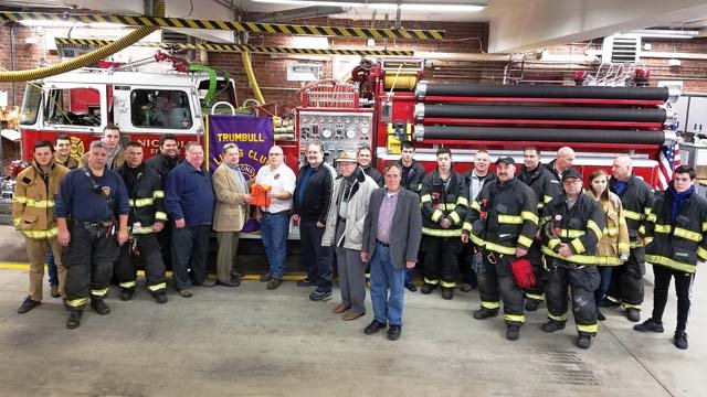 The Lions Club and members of the Nichols Fire Department. (Contributed photo)